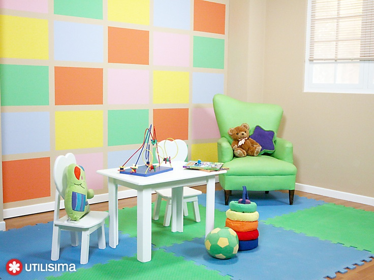 Ambiente infantil multicolor. Por Luz Blanchet. Utilísima.: Someday, To Decorate, Office Decoration Great Pleace, Consultorio Ideas, Decoración Niños, Consultorios Infantil, Awesome Idea