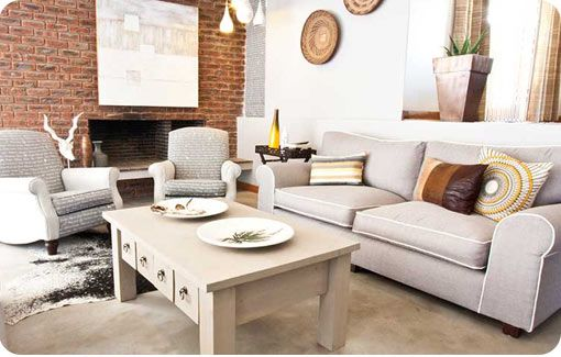 Little Karoo inspired lounge by redesign interiors. Love the neutral colour palette.