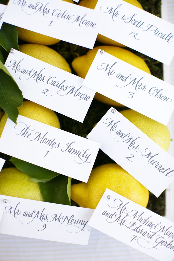 Lemons and Escort Cards