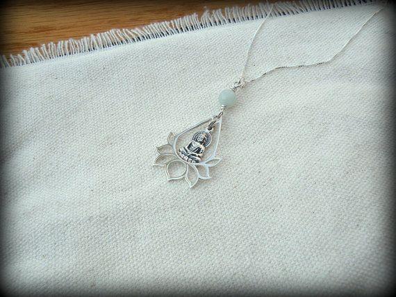 Buddha Lotus necklace Yoga necklace Lotus by always4evercreations