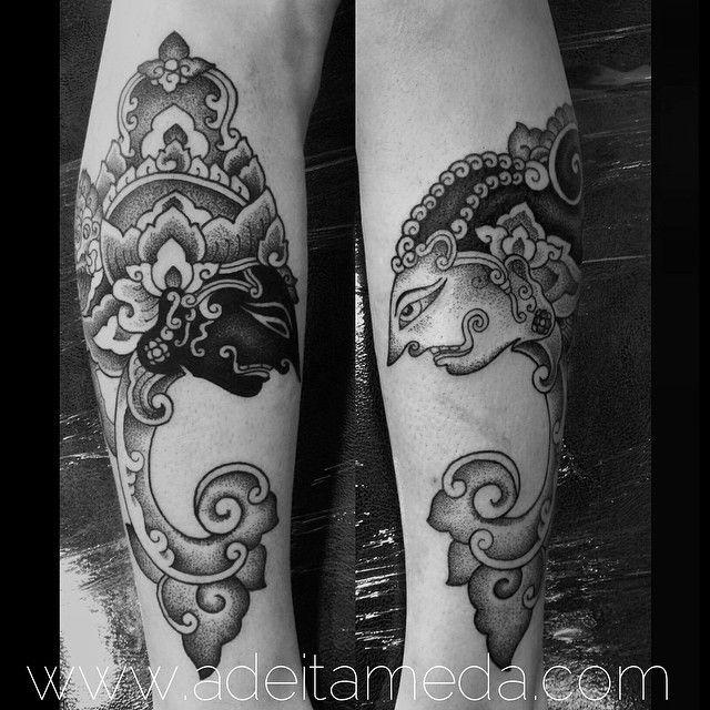 Rama & Shinta Wayang Gulit tattoo by Ade Itameda