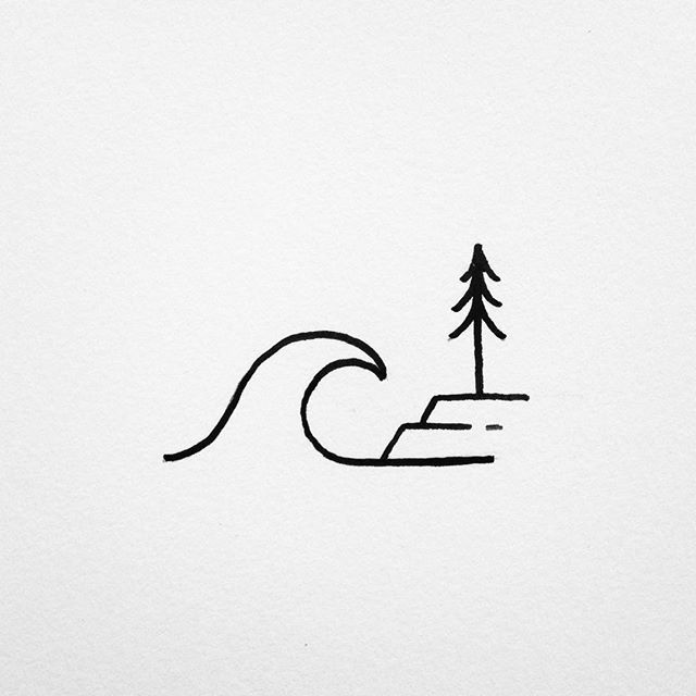 Drawing Lines Surf Movie : Simple surf scene drawings pinterest and