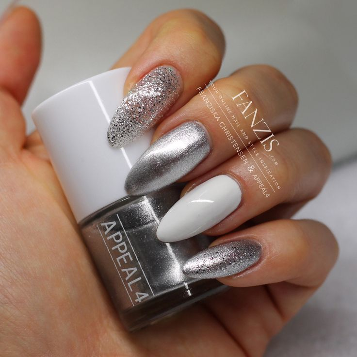 17 best ideas about white and silver nails on pinterest