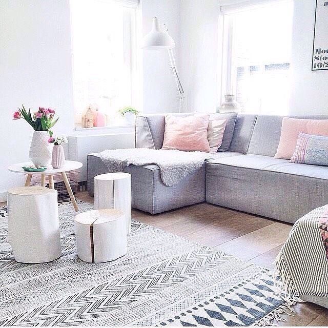 The lovely living room of Suzanne @ensuus Rug is the House Doctor block rug…