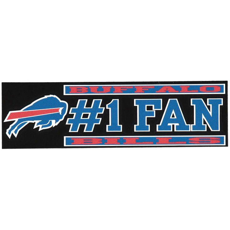 """Buffalo Bills 3"""" x 10"""" #1 Fan Die Cut Decal - $4.79"""