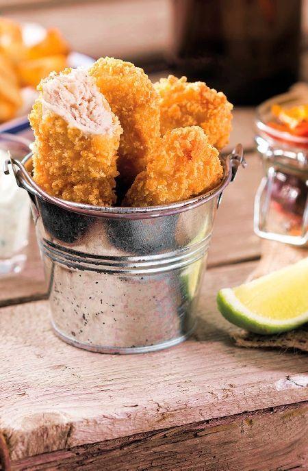 Low FODMAP Recipe and Gluten Free Recipe - Chicken goujons with yuzu mayo http://www.ibs-health.com/low_fodmap_chicken_goujon_yuzu_mayo.html