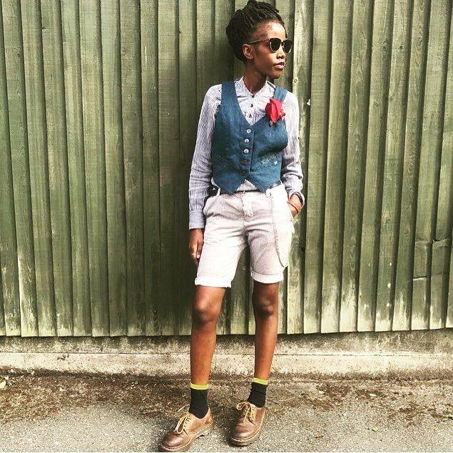 "95 Likes, 1 Comments - retro.vintage.chic/dude (@retrovintage_chic.dude) on Instagram: ""#tomboy #tomboylook #tomboyfashion #summer #drmartens #dreadlocks #vintage #retro #ugandan #kenyan…"""