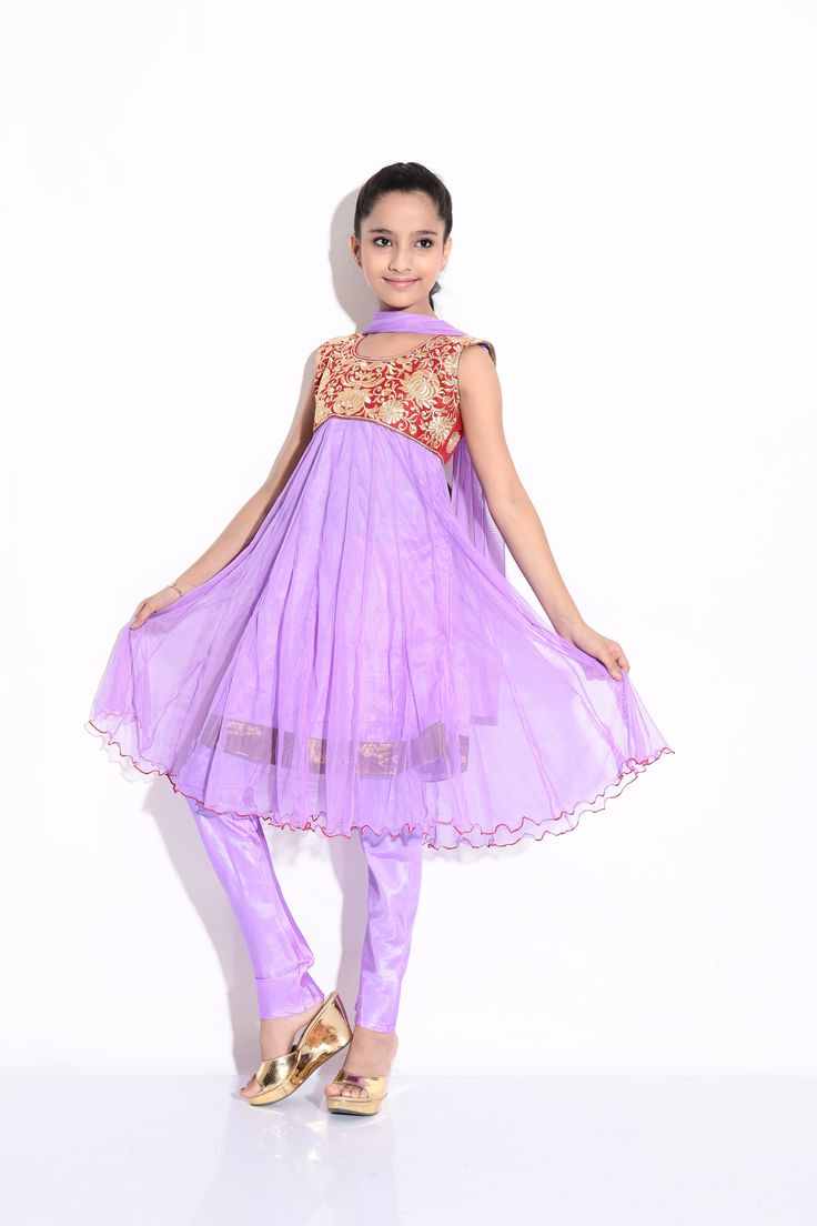 Buy Ashwini Girls Netted Embroidery Purple Salwar for Girls from age 2-8 years at Singlekart.com/ Currently available for Customers in Bangalore. #singlekart RHClothing