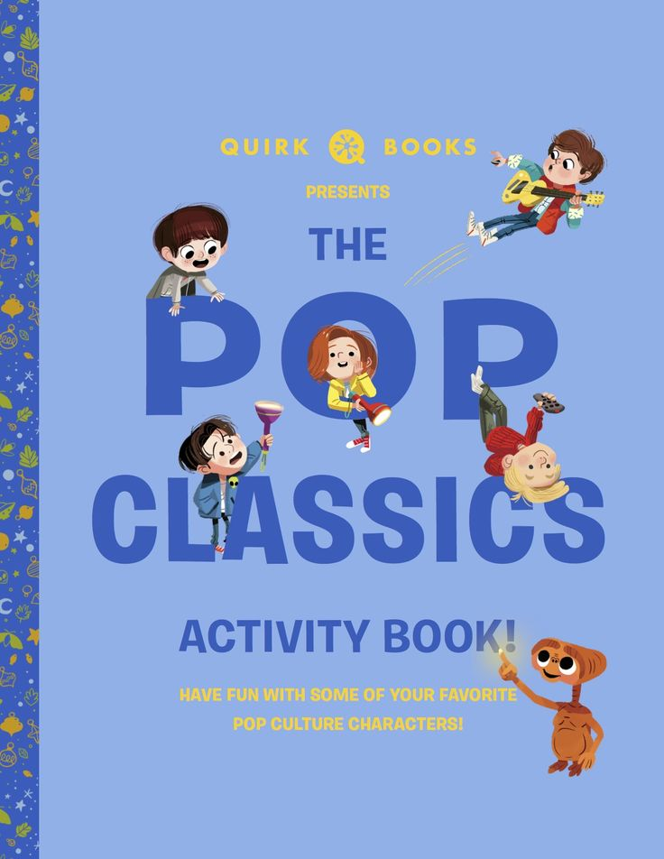 Have fun with some of your favorite pop culture characters with the Pop Classics Activity Book! #ET #XFiles #QuirkBooks #coloring #activitybook #puzzles #games