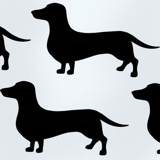 sausage dog stencil, painting stencil, animal stencil, home decor art stencils