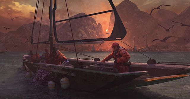 Art name: Fishermen. 〰(«°»)〰 〰(«°»)〰 Artist name: Steve Shi. 〰(«°»)〰 〰(«°»)〰 #️⃣ hashtags for likes 👍🏻 #future #fish #fishermen #bout #sunset #sea #illustration #drawing #draw #pen #pencil #artwork #art #artist #conceptart #digital #digitalart #digitalpainting #paint #painting #landscape #fantasy #fantasyart #instaart #instadaily #artsy #picoftheday #artoftheday #bestartfeatures #men