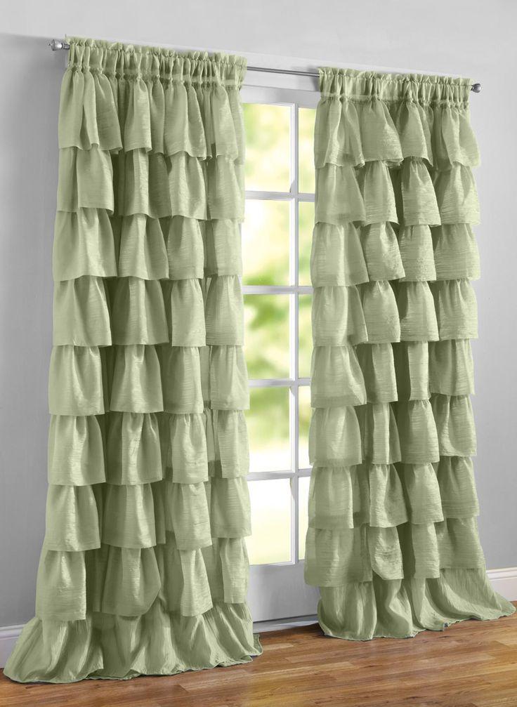 Gypsy Ruffled Curtain Panel