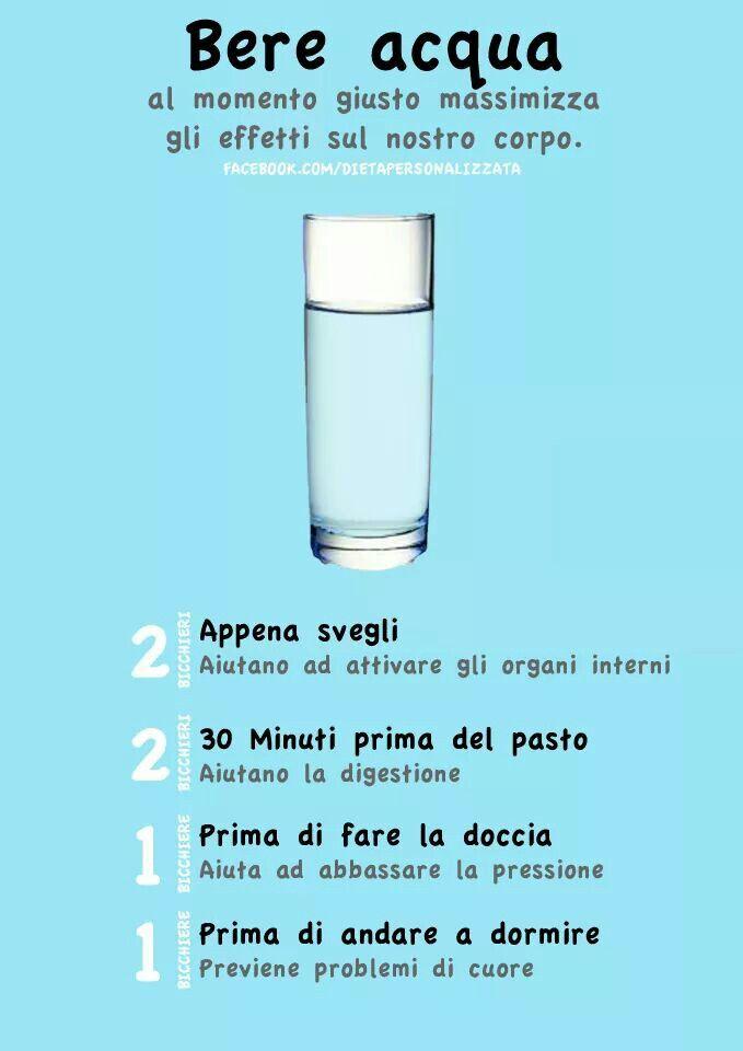 Bere acqua al momento giusto massimizza gli effetti sul nostro corpo