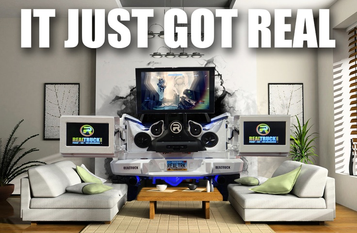 With a 3D TV, Xbox 360, Alpine Audio, and Halo 4 in the back, who wouldn't want this parked in their living room? www.realtruck.com/storm-truck-project