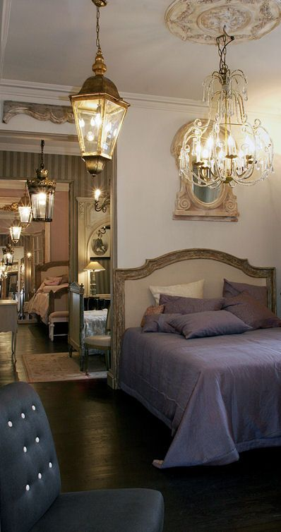 Yves Delorme amp Mis En Demeure of Paris Furniture Lights On