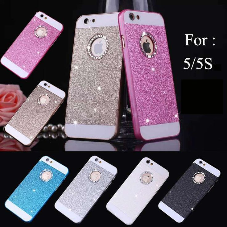 2015 Hot Bling Logo Window Luxury phone case for iPhone 5 5S 5c 5G Shinning back cover Sparkling case for iPhone 5 free shipping iPhone Web Shop |