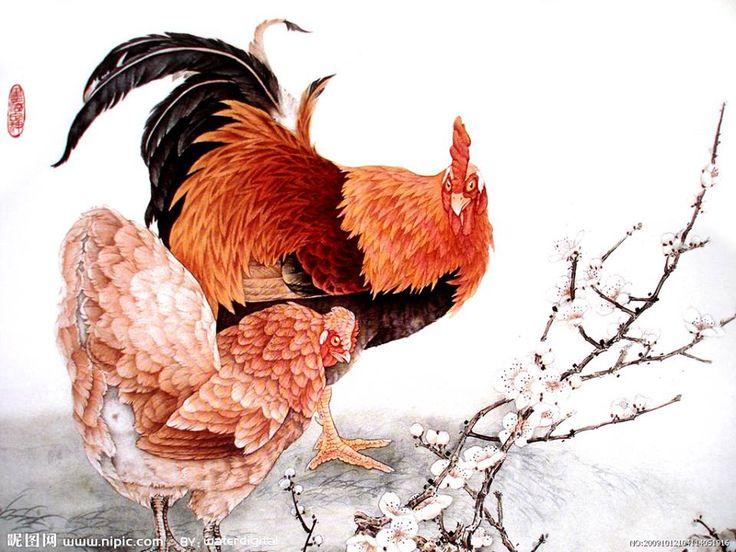 Tranh gà 1
