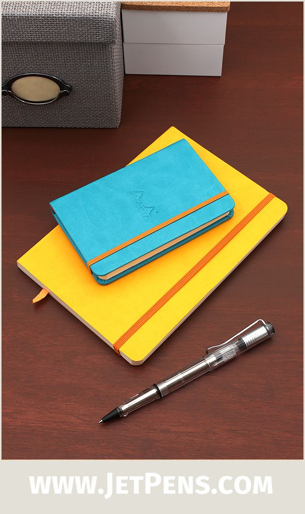 Vibrant new Rhodia Rhodiarama Softcover Notebooks feature classic Rhodia paper inside colorful and flexible covers.
