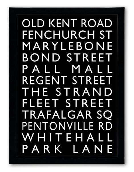 Inspired by the destination blinds that were displayed on the front and sides of old trams and buses in the 1900's. Our twist lets you personalise the places that are important to you to create your own bus blind. Instant previews as you type. From £14.99 with fast free delivery