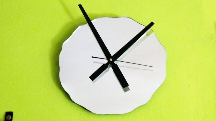 """Large 12"""" Modern Mirror Wall Clock,trending home decor,gift for him,gift for her,birthdaygift,wedding,anniversary gift,wavy edge,minimal by TheArtWorkShop37 on Etsy"""