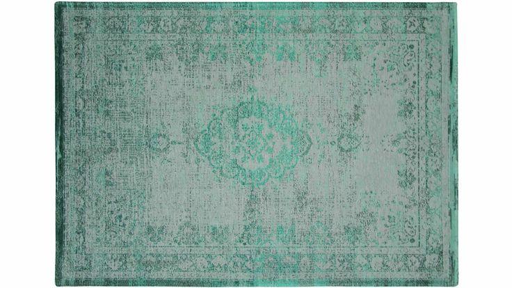 Tapis contemporain Tapis Médaillon Fading World Gris/Vert - Saint Maclou