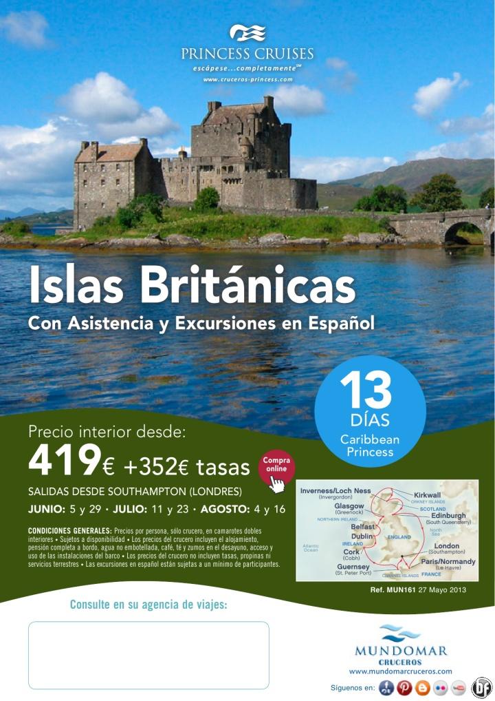 Princess Cruises- Cruceros por las Islas Británicas en Verano desde 419€ + tasas - http://zocotours.com/princess-cruises-cruceros-por-las-islas-britanicas-en-verano-desde-419e-tasas/