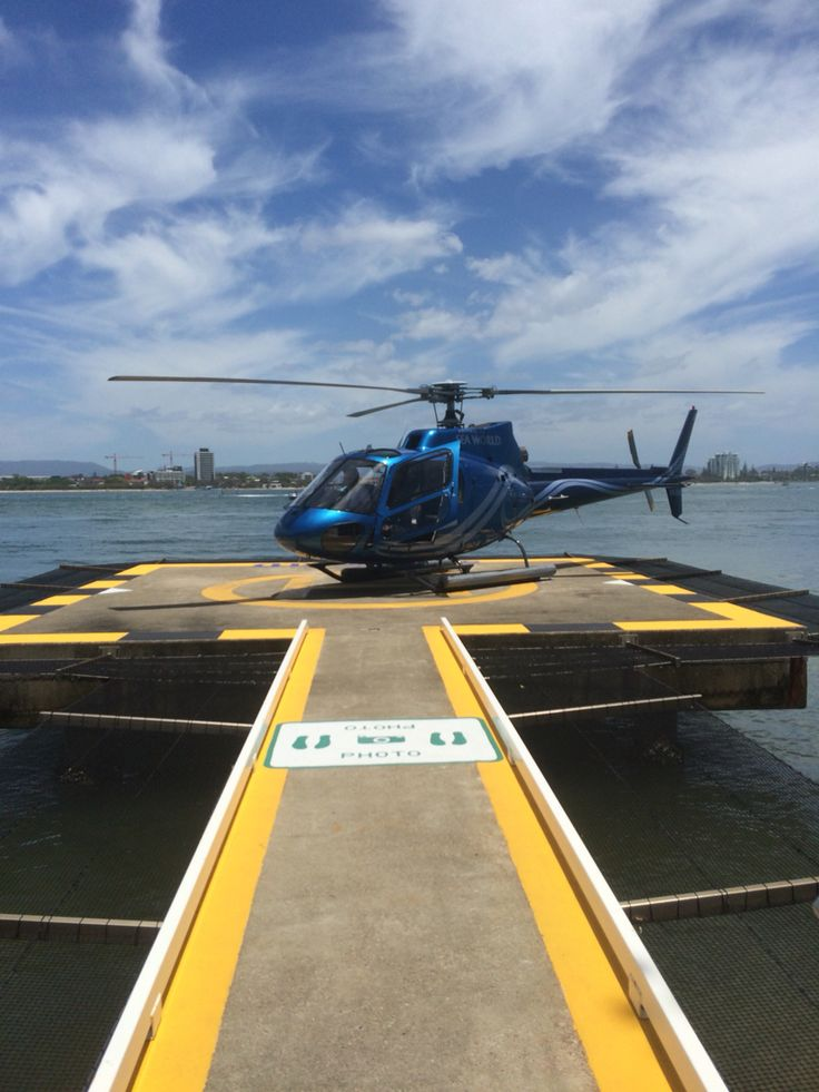 Helicopter ride at sea world takes you on an awesome adventure around the coast and city of Gold Coast.