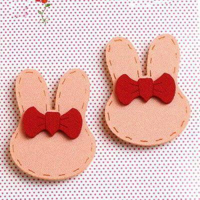 JRK Kids Bowknot Rabbit Ears Hair Sticky Pink | pinknee.com