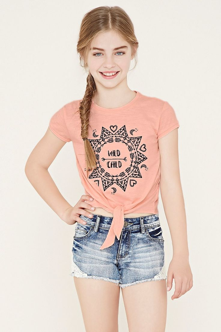 Girls Wild Child Tee (Kids) | Forever 21 girls - 2000152561