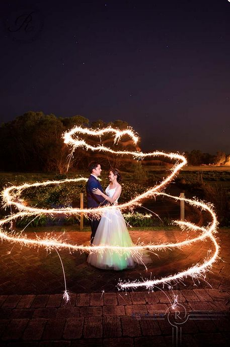 Sparkler swirl, night time photography. Chapel Farm