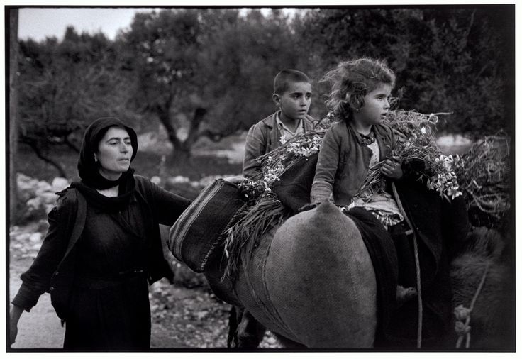 "Constantine Manos GREECE. Crete. Kritsa. 1964. Going home from the fields. ""A Greek Portfolio"""