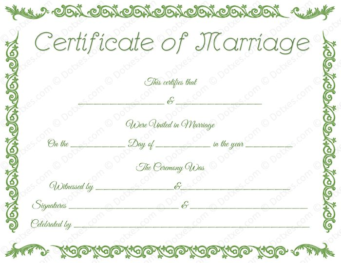 34 best Printable Marriage Certificates images on Pinterest - fake divorce papers for free