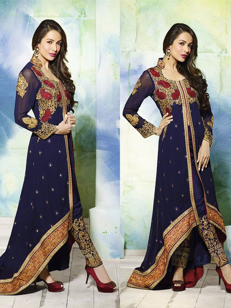 Experience the wedding extravaganza wearing this Faux Georgette, Asymmetric Front slit Kameez in Blue - See more at: http://www.akalors.in/New-Arrivals/Navy-Blue-Faux-Georgette-Asymmetric-Kameez-with-Straight-Pant-id-1822778.html#sthash.hWhJqZ2Q.dpuf