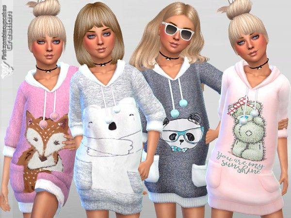 The Sims Resource: Child Sweaters Collection 05 by Pinkzombiecupcakes • Sims 4 Downloads