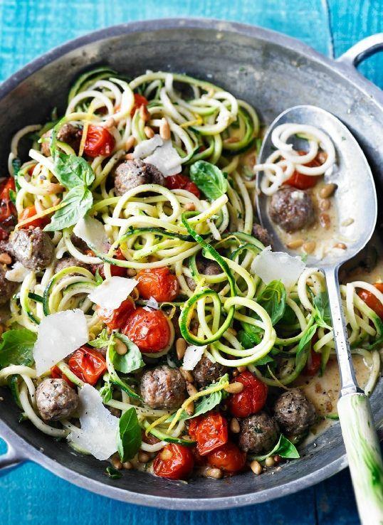 Low FODMAP Recipe and Gluten Free Recipe - Zucchini & meatballs
