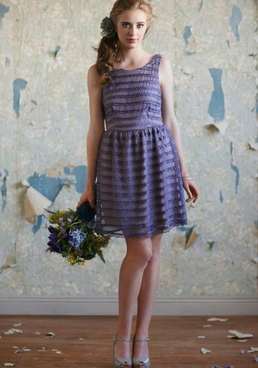 i really like the shape of this dress. maybe we can get the same dress but have different colored overlay?: Purple Bridesmaids, Bridesmaid Dresses, Wedding, Purple Dress, Bridesmaids Dresses, Irises, Iris Purple