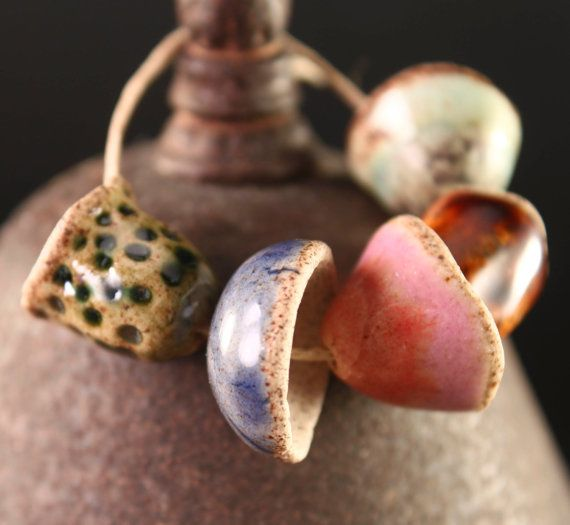 Ceramic beads by ChelleV2 on etsy