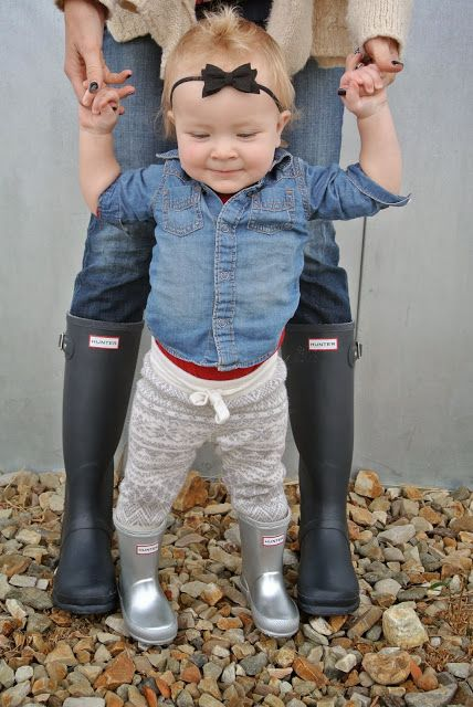 Rainy Day- baby hunter boots?!