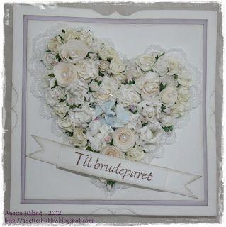 Trenger du inspirasjon til å lage bryllupskort eller invitasjoner?     Anette på desigteamet har laget disse to fantastisk flotte blomster...