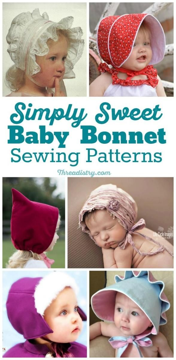 There's something special about an old-fashioned bonnet that looks so adorable on a toddler or baby. Check out these gorgeous baby bonnet sewing patterns, from vintage to modern. Perfect DIY baby shower gift. Sew a fun Easter bonnet for baby.