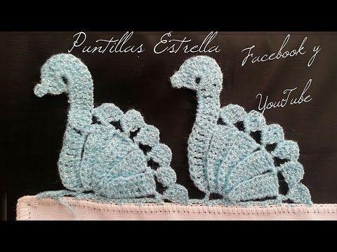 https://www.facebook.com/Puntillas-Estrella-857837350968862/?ref=bookmarks. Crochet peacock edging, border.