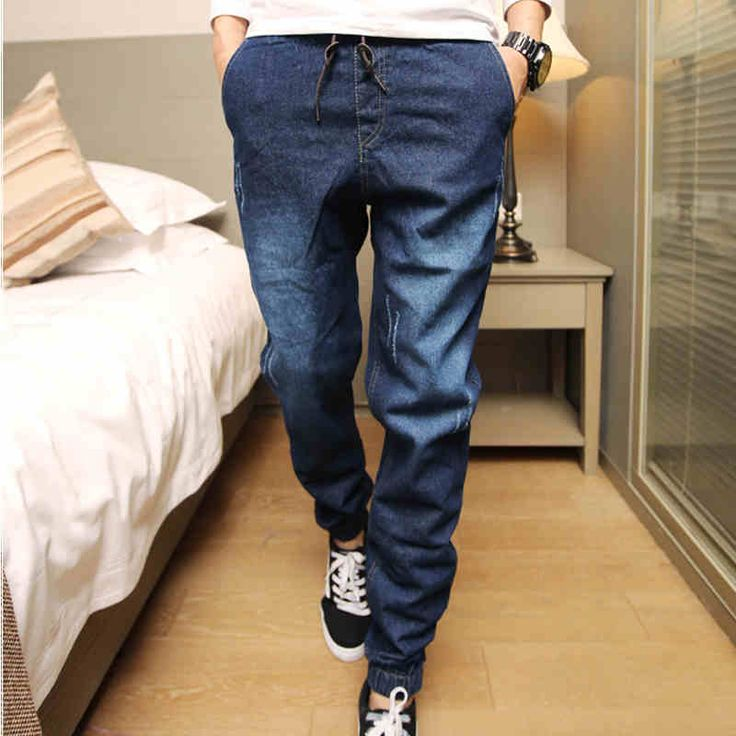 Mens Denim Jeans Men Drawstring Slim Fit Denim Joggers Mens Joggers Jeans Stretch Elastic Jean Pencil Pants Casual #>=#>=#>=#>=#> Click on the pin to check out discount price, color, size, shipping, etc. Save and like it!