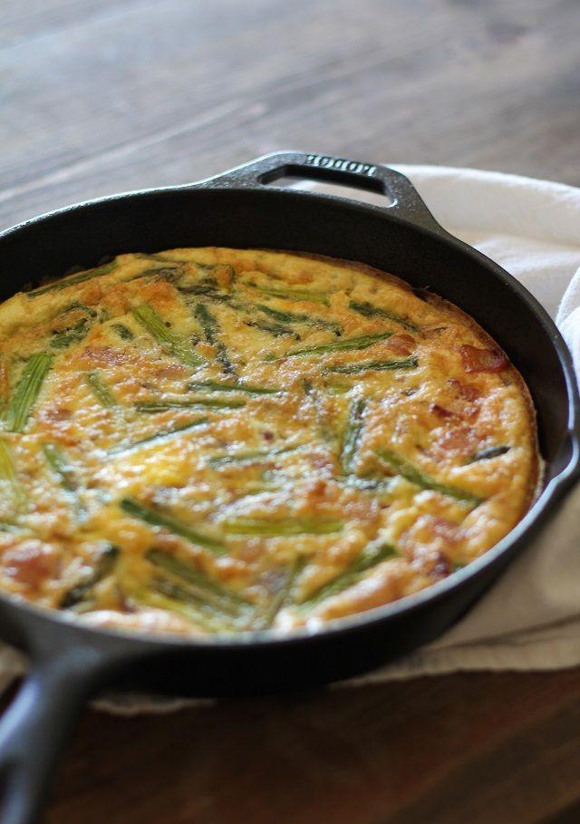Bacon and Asparagus Frittata