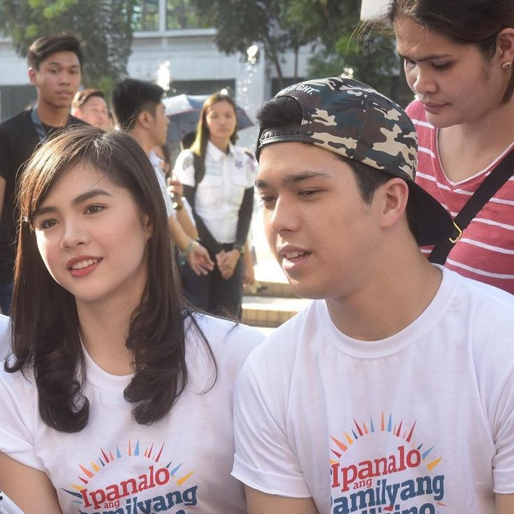 """This is the pretty Janella Salvador and the handsome new Kapamilya, Elmo Magalona smiling and posing for the camera while visiting students at University of Santo Tomas during the taping of the 2016 ABS-CBN Summer Station ID and Halalan 2016 Station ID theme song, """"Ipanalo ang Pamilyang Pilipino!"""" They encouraged the students at University of Santo Tomas to vote wisely on Halalan 2016. #ABSCBN #Halalan2016 #IpanaloangPamilyangPilipino #JanellaSalvador #ElmoMagalona #ElNella"""