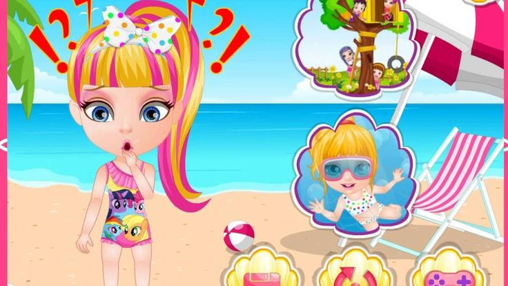 Baby Barbie Beach Slacking | summer, games for kids |  dora the explorer