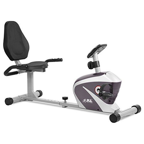 JLL RE100 Recumbent Home Exercise Bike. 5kg two way flywheel with 8 levels of magnetic resistance. 6 - Levels of seat adjustment, Monitor displays speed, distance, time, calories and pulse. 12- months warranty.