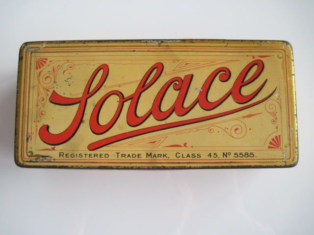 Excited to share the latest addition to my #etsy shop: Solace cigarette tin (100/empty) by Cope Bros & Co Ltd c. 1897 http://etsy.me/2o5i91h #vintage #collectables #cigarettetins #tobaccocollectibles