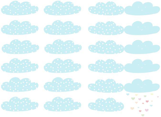 Free Printable - étiquettes nuages