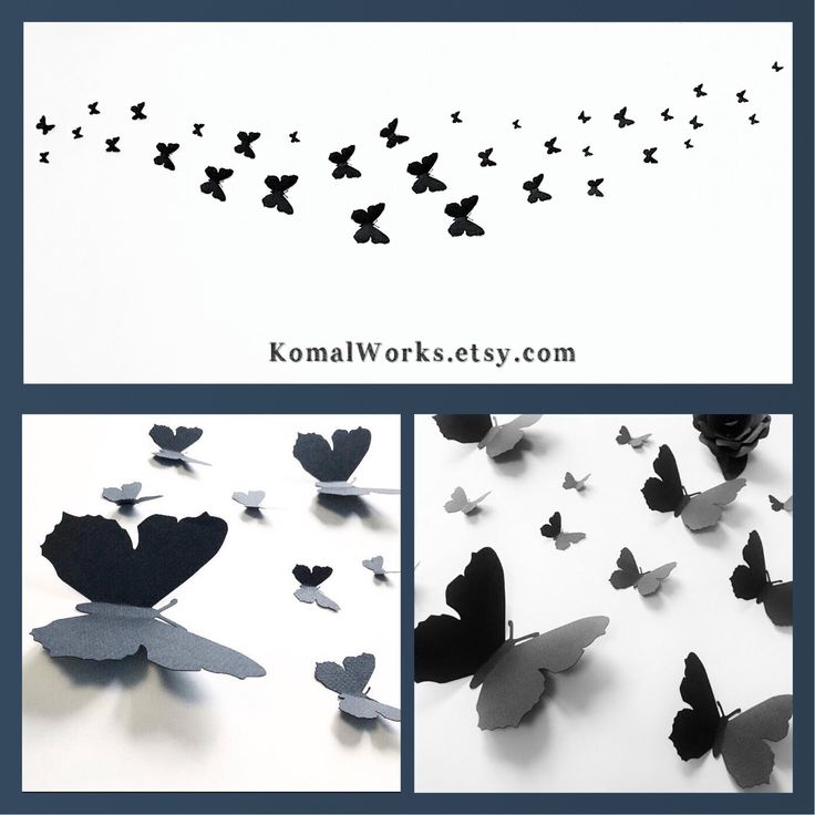 Order these lovely black paper butterflies at KomalWorks.etsy.com in any colour, size and quantity, we ship worldwide  #butterflies #etsy #butterflyparty #komalworks #springdecor #partyplanning #paperbutterflies #girlsroom #birthdayparty #gothicdecor