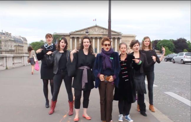Capture d'écran du clip réalisé par le collectif Georgette Sand, soutenu par la chanteuse Caroline Loeb. - Georgette Sand.